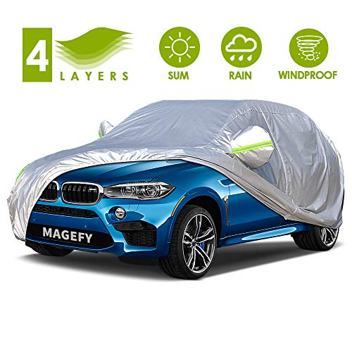 MAGEFY 4 Layers Outdoor SUV Car Cover Universal Full Car