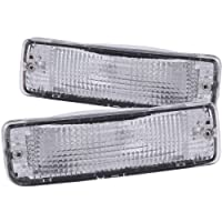 Anzo USA 511019 Toyota Chrome Clear w /Amber Reflectors Bumper Light Assembly - (Se vende en pares)
