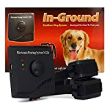 FunAce Invisible Pet Fence System - Rechargeable & Waterproof & Shock Adjustable Collar (2 Dog System)
