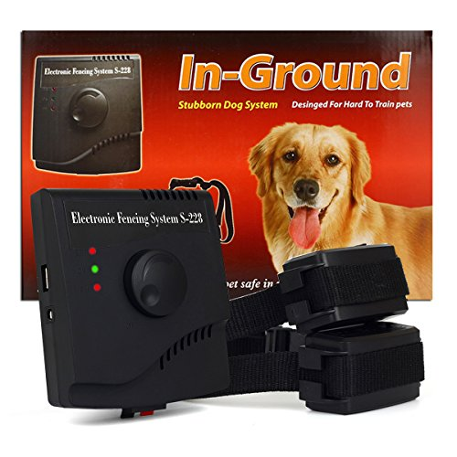 FunAce Invisible Pet Fence System - Rechargeable & Waterproof & Shock Adjustable Collar (2 Dog System) by FunAce