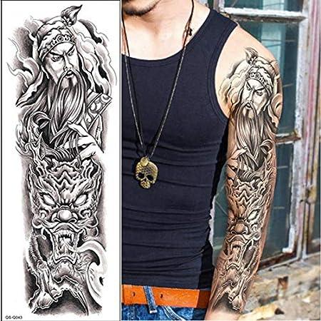 Handaxian 3pcsHombres Hombro Tatuaje Manga Impermeable Tatuaje ...
