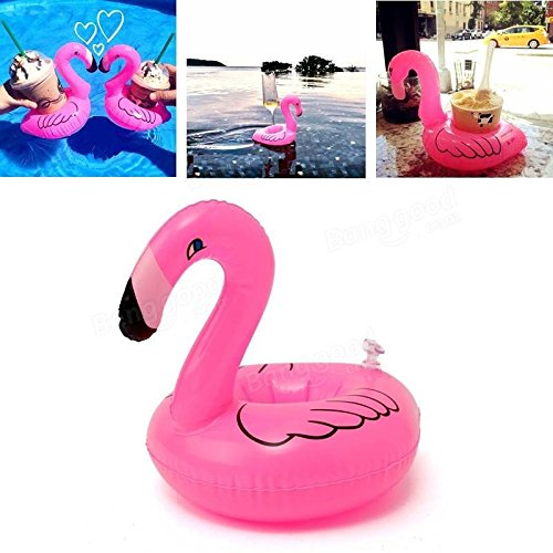 6PCs Mini Cute Funny Rose Red Floating Inflatable Drink Holder Swimming Pool Bathing Beach Party Kids Bath Toy