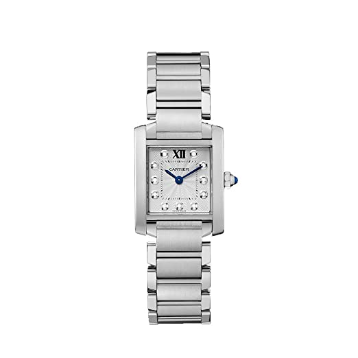 e702cbd5d1f7d Image Unavailable. Image not available for. Color  Cartier Tank Francaise  Silver Dial Stainless Steel Ladies Watch WE110006