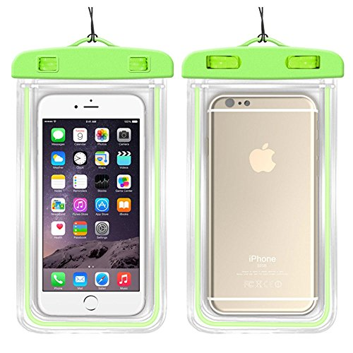 Sunnyillumine Mobile Phone Waterproof Dry Case Bag Pouch for Smart Phones Samsung Galaxy S9/S9 Plus/S8/S8 Plus/Note 8 6 5 4, Google Pixel 2 HTC LG Sony and More IPX8 (Green)