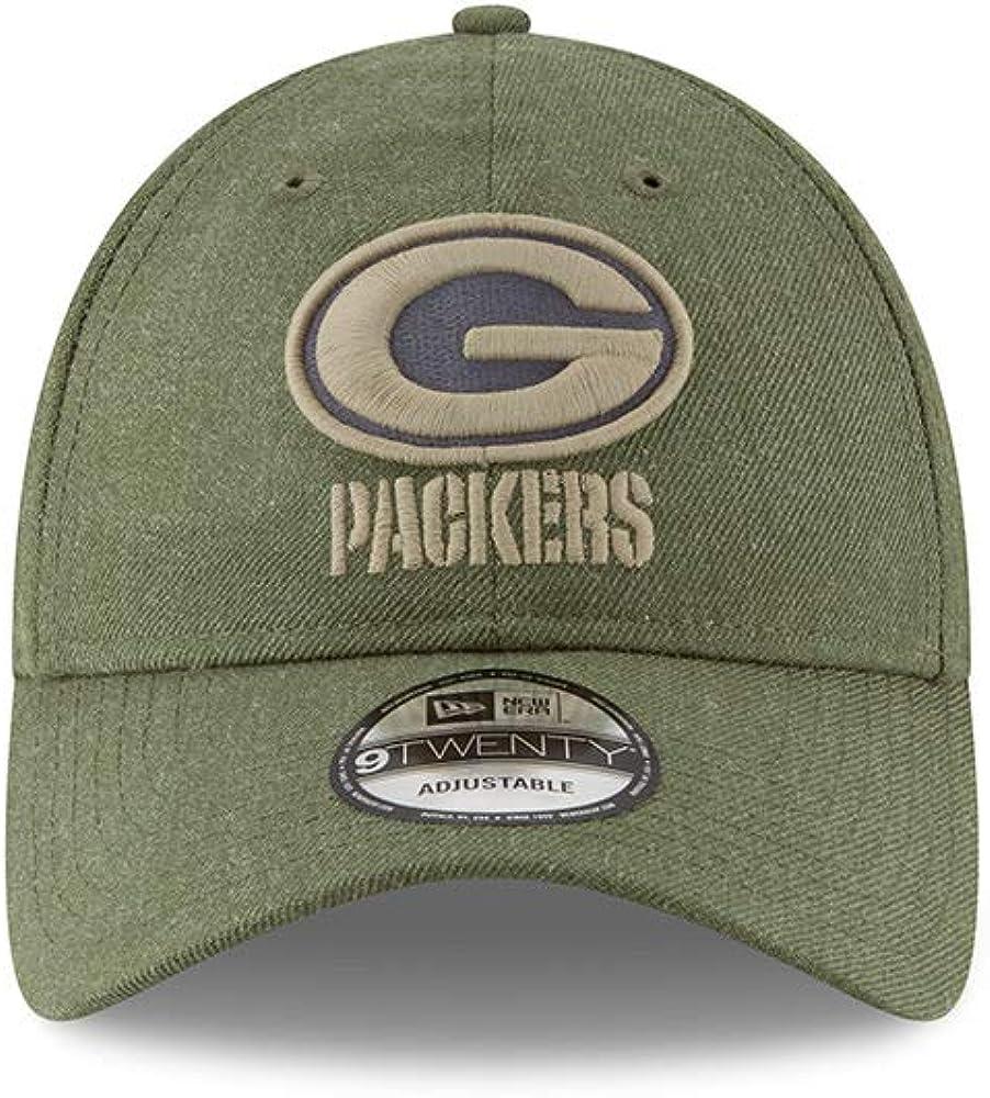 New Era Green Bay Packers 9twenty Adjustable Cap on Field 2018 Salute to Service