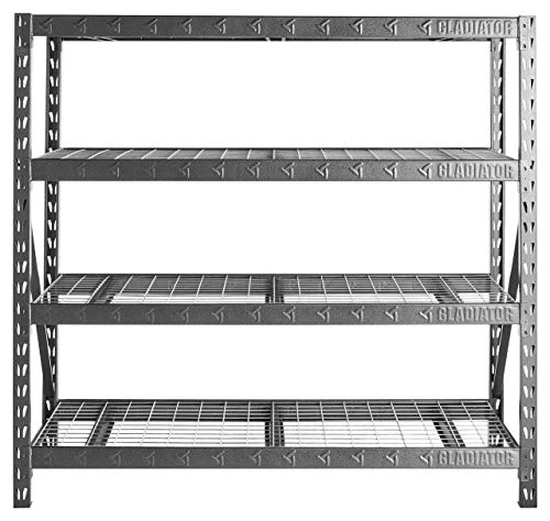 77' Wide Heavy Duty Rack with Four 24' Deep Shelves