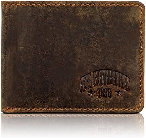 Klondike 1896 Noah Carteras Hombre con Monedero, Cartera Hombre Piel, Billetera Minimalista en Formato Horizontal - Marrón: Amazon.es: Equipaje