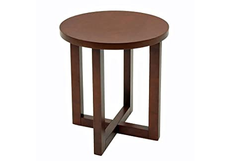 Exceptionnel Round Wood End Table Dimensions: 23u0026quot;H X 21u0026quot; Diameter Weight: 50