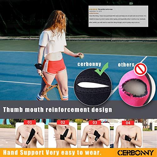 Amazon.com: Cerbonny - Muñequera deportiva, soporte para la ...