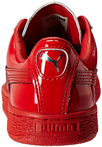 PUMA Men's Basket Matte und Glanz Fashion Sneaker Hohes Risiko Rot / Puma S