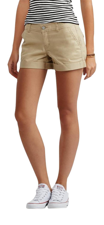 Aeropostale Women's Color Wash Twill Midi Shorts
