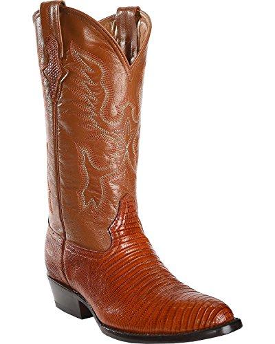 Ferrini Hommes Véritable Lézard R-toe Western Boot Arachide