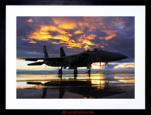 The Art Stop Photo Military Aircraft Fighter Bomber Jet Sunset Framed Print F97X5422