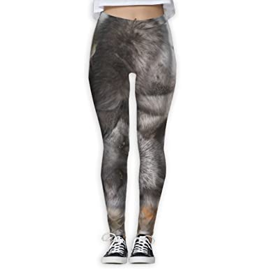 d945cdd60660 Girl Yoga Pant You See Gray I See A Silver Fox High Waist Fitness Workout  Leggings