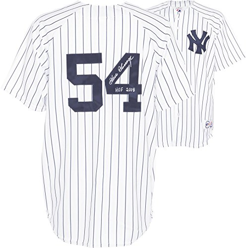 Goose Gossage New York Yankees Autographed Majestic White Replica Pinstripe Jersey with HOF 2008