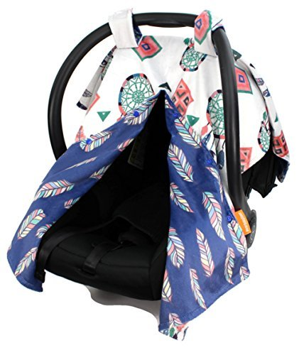 Dear Baby Gear Deluxe Car Seat Canopy, Custom Minky Print, R