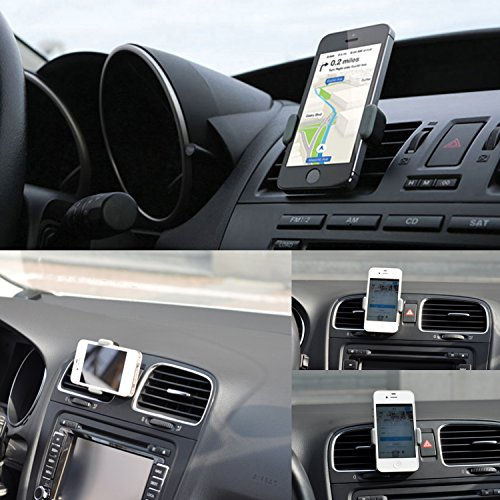 Stouch Car Mount Holder - 360 Rotation - Air Vent - Portable Universal Smartphone Car Mount Holder for iPhone 6 with 4.7'' 5.5'' Screen / 5S / 5C / 5 / 4GS / 4G / 3GS / 3G, Samsung Galaxy S5 / S4 / S3 / Epic, HTC One New M8 / M7, LG G3, Amazon Fire Phone and all other Smartphones