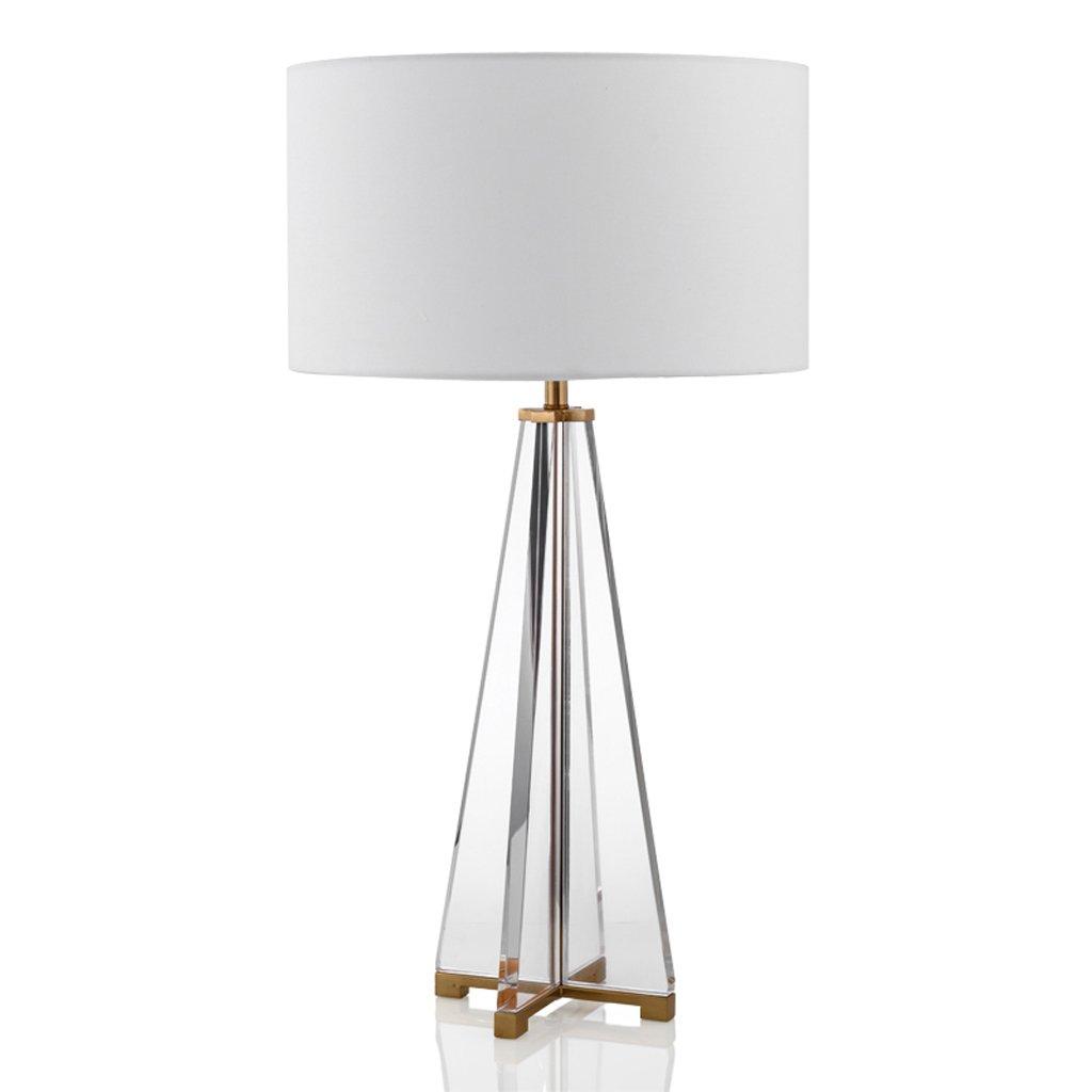 Hanlon E27-Schraubsockel, Tischlampe nach dem modernen einfachen amerikanischen Hardware Sandwich Crystal Hause Modell Zimmer Lampe Wohnzimmer Schlafzimmer Nachttischlampe