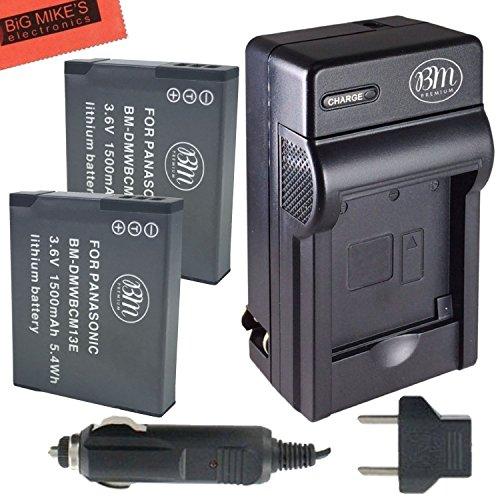 BM-Premium-Pack-of-2-DMW-BCM13E-Batteries-and-Battery-Charger-for-Panasonic-Lumix-DMC-FT5A-DMC-LZ40-DMC-TS5-DMC-TS6-DMC-TZ37-DMC-TZ40-DMC-TZ41-DMC-TZ55-DMC-TZ60-DMC-ZS27-DMC-ZS30-DMC-ZS35-DMC-ZS40-DMC