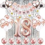 18th Birthday Decorations Banner Balloon, Happy
