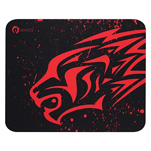 Small Red Leopard-Exco Gaming Mouse Pad Oblong Shaped Mouse Mat Design Natural Eco Rubber Durable Computer Desk Stationery Accessories Mouse Pads for Gift Support Wired Wireless or Bluetooth Mouse