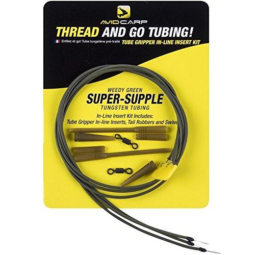 Avid Carp Thread and go Tungsten Tubing Kit Inline (GP/St. 4,893?) Silty Black