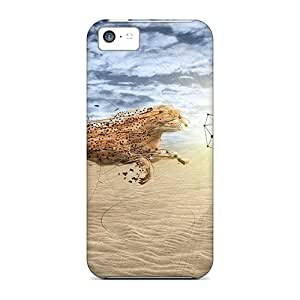 Hot Style JFblFqa570IfnYI Protective Case Cover For Iphone5c(cheetah Fight)