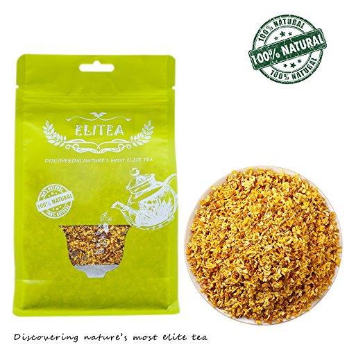 ELITEA 4oz Dried Osmanthus Flower Herb Loose Leaf Tea 100% Fragrant Natural Healthy Herbal Tea 115 g (Herbs Dried Flowers)