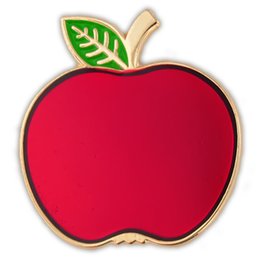 PinMart Red Apple Fruit Food School Teacher Enamel Lapel Pin