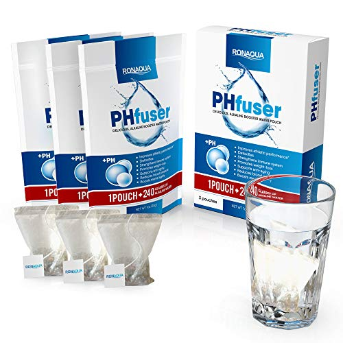 (PHfuser Alkaline Water Filtration Pouch for your bottle, jar, pot, coffee/tea cup, jug, pitcher, container – Filter Purification System for Clean, Healthy, Safe, Anti-Oxidant, Anti-Aging water(3 Pack))