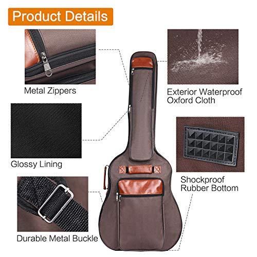 1877b45686c CAHAYA Guitar Bag 41 Inches [Upgraded Premium Version] Guitar Case ...