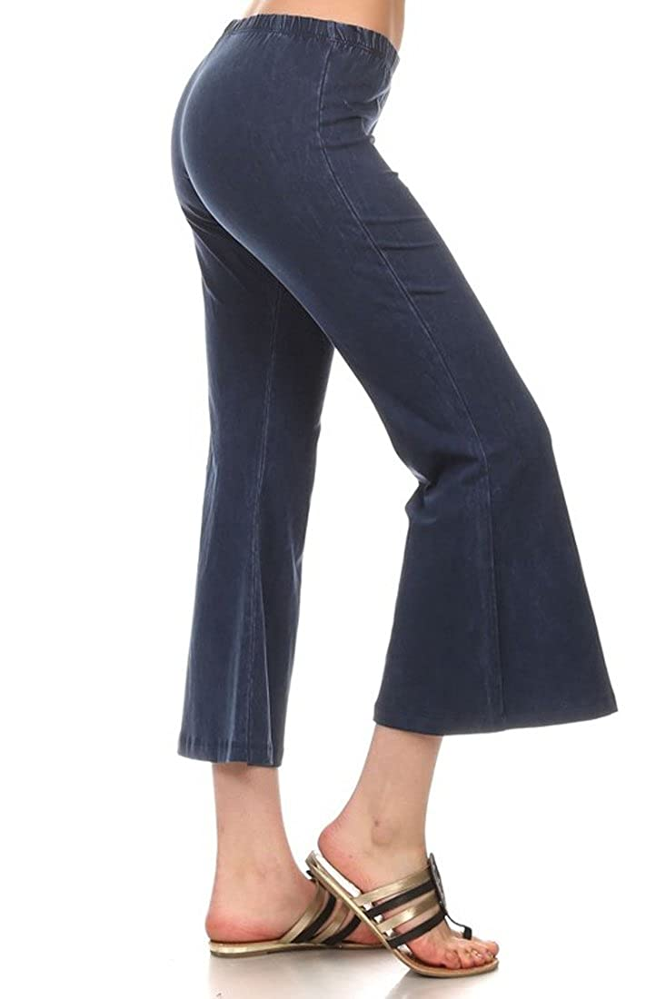 Zoozie LA Women's Culottes - Made in The USA Bell Bottoms Cropped Pants