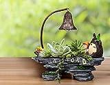 YOURNELO Creative Miyazaki Hayao Totoro Night Light Plant Flower Pot Succulent Planters Vase (Totoro 1)