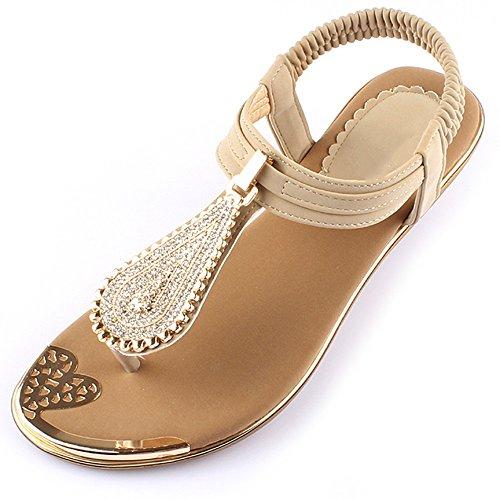 XIAOLIN 女性の足のサンダルフラットローマのクリスタルつま先の脚ラインストーンフラットボトムサンダル女性の夏(オプションのサイズ) (色 : 01, サイズ さいず : EU39/UK6.0/CN39)