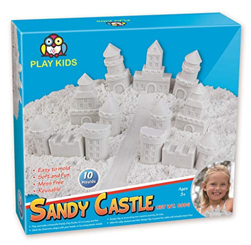 Sand Clay for Kids with Molds Activity Set, 800 G and 14 Molds