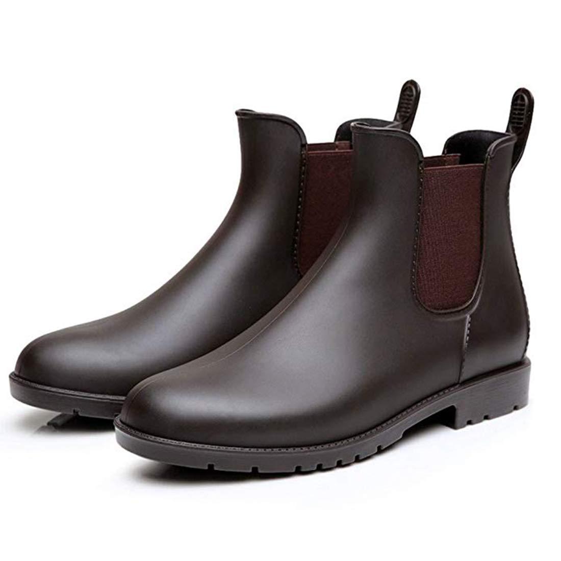 Buganda Women's Short Rain Boots - Waterproof Non Slip Ankle Rain Shoes Elastic Chelsea Booties YX-1