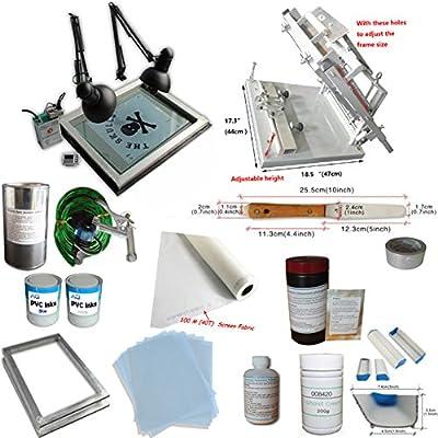 TechTongda Cylinder Screen Printing Kit Cylinderical Screen Printing Machine Screen Printing Press Bottle Printing