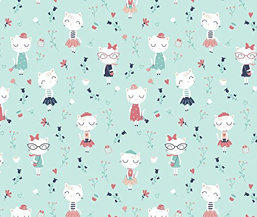 Cats Fabric Très Chic - Ment Fashionable Cats In Paris by Ewa Brzozowska Printed on Sport Lycra Fabric by the Yard by Spoonflower