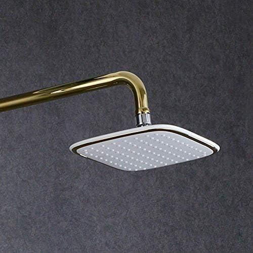 BZM-ZM 銅の金属ワイヤの描画ホワイトゴールドの浴室のシャワーの蛇口が美しい実用的なスプレー3機能ハンドヘルドシャワー過給システムとの広場トップレバーリフトを設定します。