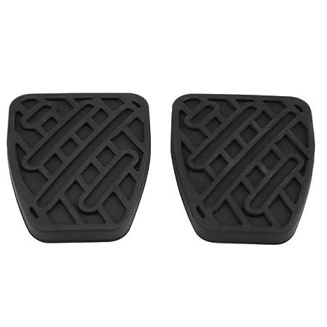 Sunlera 1 par de Embrague del Freno de Pedal Cubierta de Goma Negro Antideslizante Almohadilla de