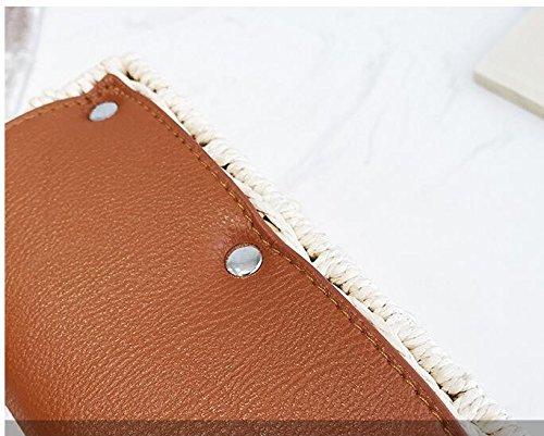À Plage Façon Meaeo Sac Oblique Paille De Croix Beige Bande Large Brown De De Sac qqavXRxTw