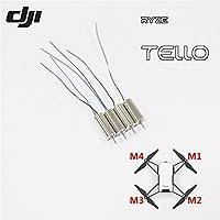 RYZE Tello 8520 Coreless Genuine CW CCW Motor for DJI Tello 720P Camera WiFi FPV Mini Drone Quadcopter Repair Accessories (Genuine Motors Set(M1/M2/M3/M4))