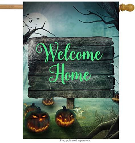 ShineSnow Halloween Pumpkin Mushroom House Flag 28