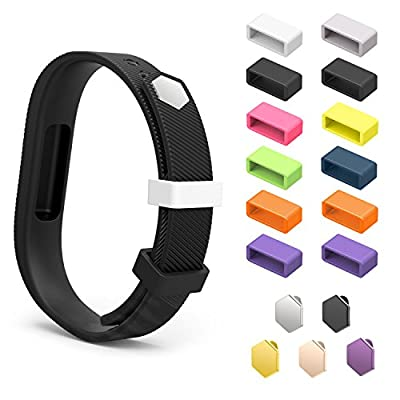 Fitbit Flex 2 Fastener Ring, MoKo [12 PCS] 10 Colours Replacement Silicone Secure Clasps ONLY for Fitbit Flex 2 Wristband, Fix the Tracker Fall Off Problem, Tracker and Wristband NOT Included