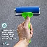 "LifeGrip Solid Rubber Roller - 10cm/3.9"" wide - Ideal for Car Sound Deadening, Mats, Deadener Insulation, Construction, Masonry, Stamping, Anti Slip/Skid, Wallpaper"