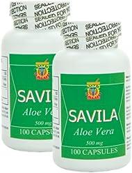 Capsulas de Savila 500mg. Set de 2 frascos con 100 capsulas c/u.
