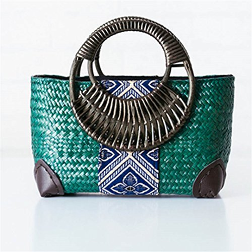 Bambú Small VersióN Handle Hand BoBoLaLa Handbags Tailandesa De Package Rattan Serie Wind Package De De Paquete National Impreso At01Husng AT01kafei Vacaciones Mini Grass HTdTrFnqU