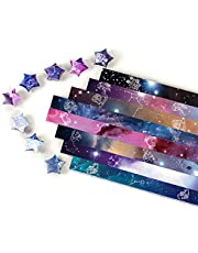 560 Sheets Origami Stars Paper Double Sided 8 Colors Decoration Paper Strips (Constellation Origami)