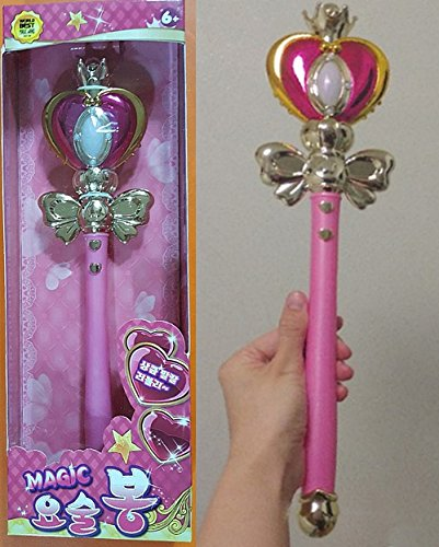 Waro SAILOR MOON magic wand stick rob cosplay SPIRAL HEART MOON ROD style 14 inch Various sounds & lights