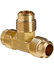 """Anderson Metals 54044-06 Brass Tube Fitting, Flare Tee, 3/8"""" x 3/8"""" x 3/8"""" Flare"""